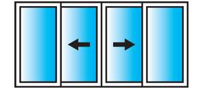 Lift and Slide 4 Pane Configuration